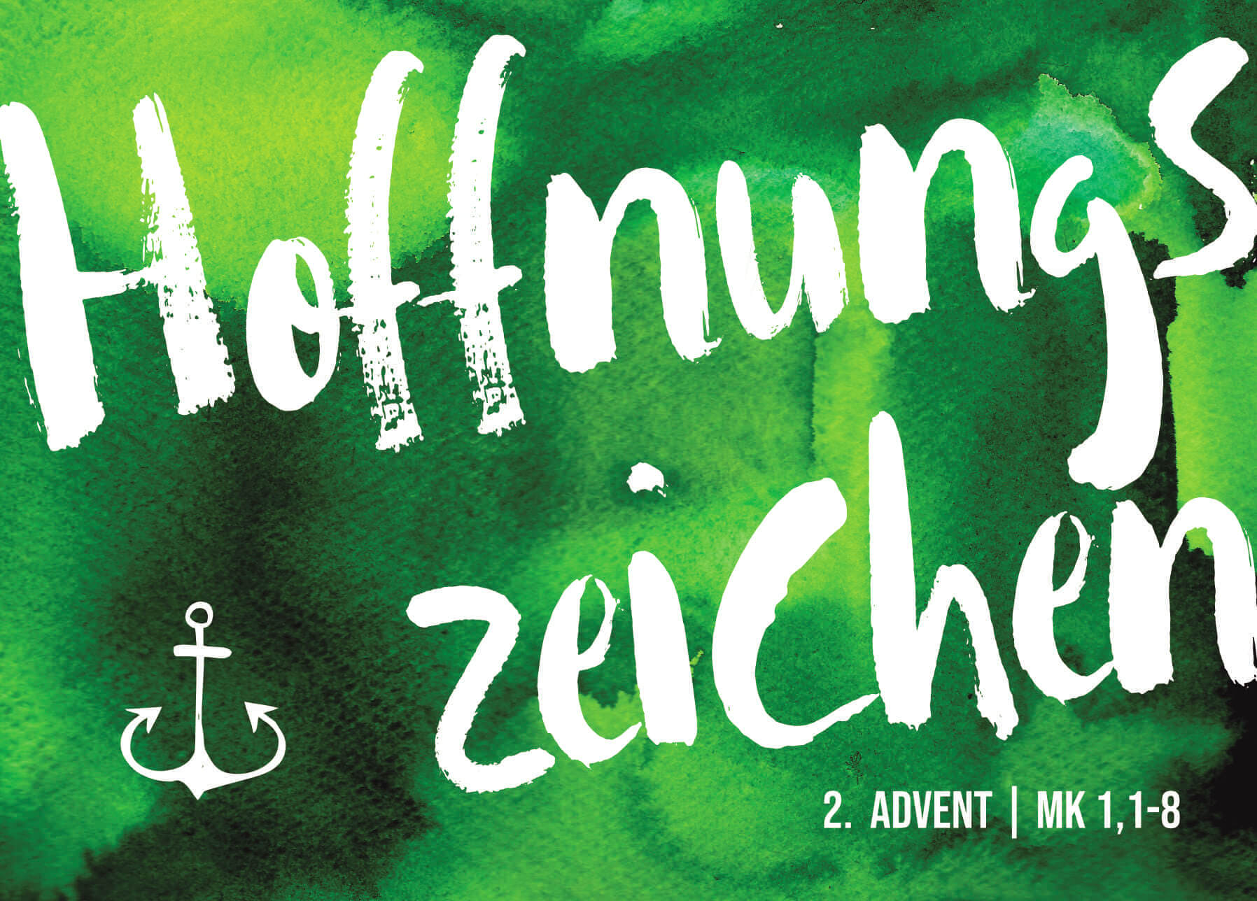 Adventskarte 2. Advent